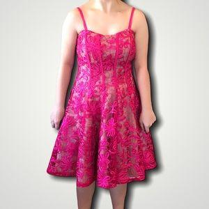 COAST spaghetti straps fuchsia prom dress size 6
